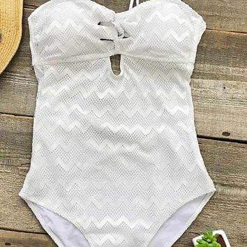 Cupshe Soft Feeling Solid One-piece Swimsuit