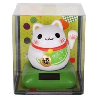 Lucky Cat Chubby Nohohon Solar ECO Japan Figure