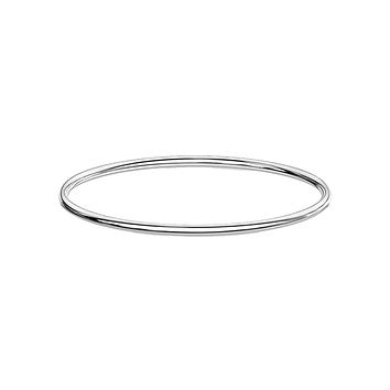 Simply Silver Bangle - Simple Stainless Steel IP Bangle Bracelet