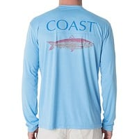 Pink Fish Performance Shirt in Blue by Coast