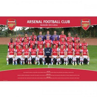 Arsenal Gunners FC 2013-2014 team squad poster new English Premier League