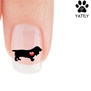 """""""My Heart"""" Long-Hair Dachshund Nail Art Decals ( Now 50% More FREE)"""