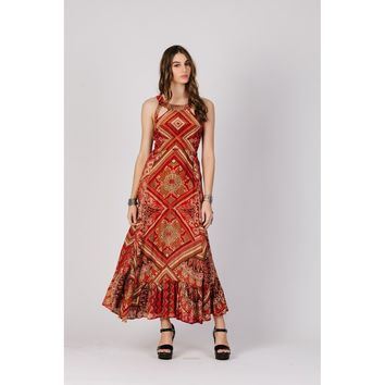 Copper Maxi Casual Dress