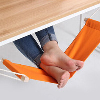 60*16cm Office Foot Rest Stand Desk Feet Hammock Easy to Disassemble Study Indoor Orange
