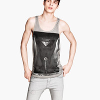 Tank Top with Printed Design - from H&M