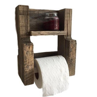 Reclaimed Wood Toilet Paper Tissue Holder