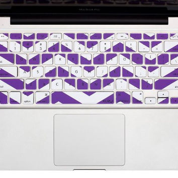 "Purple Chevron Stripe Keyboard Cover Decal Skin for Apple Macbook Macbook Pro iMac Keyboard  13"" 15"" 17"""