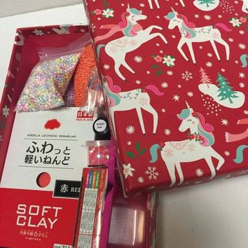 GIFT-READY slime kit in a holiday gift box - ready for your recipient