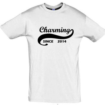 Charming since 2014 (Any Year)gift ideas,humor shirts,humor tees,charming shirt,giftfor sister,cotton,party shirt,gift for son,brother gift