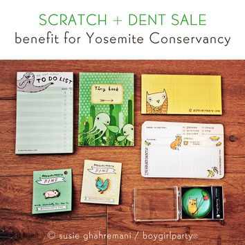 Benefit for Yosemite Conservancy -- Scratch and Dent Fundraiser Product and Pin Sale