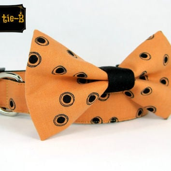 Halloween  Dog Collars with bow tie set  (Mini,X-Small,Small,Medium ,Large or X-Large Size)- Adjustable