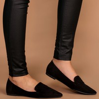 Amélie Pointed Loafers - Black