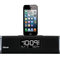 iHome Dual-Charging Clock Radio for iPhone 5, 5s & 6, iPad (iDL45BC) - Black