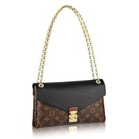 CHEN1ER Louis Vuitton Pallas Chain Noir Color Clutch Shoulder Bag Cross Body Article: M41223