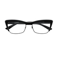 Retro Vintage Style Clear Lens Half Frame Cat Eye Glasses Frames C60