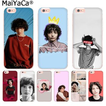 MaiYaCa TV Finn Wolfhard Stranger Things New Arrival Fashion phone case for Apple iPhone 8 7 6 6S Plus X 5 5S SE XS XR XS MAX
