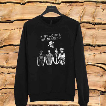 5 Seconds Of Summer group sweater Sweatshirt Crewneck Men or Women Unisex Size