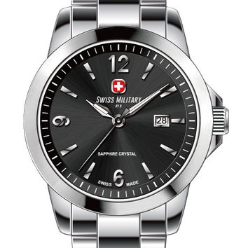 Swiss Military by R 50503 3 N Alpha Men's Watch Black Dial Swiss Made