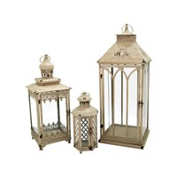 Hathaway Set of 3 Nesting Lanterns Antique Parchment