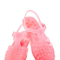 Totally Jelly Sandal in Bright Pink