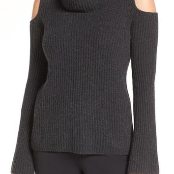 Elie Tahari 'Torrence' Cold Shoulder Cashmere Cowl Neck Sweater | Nordstrom
