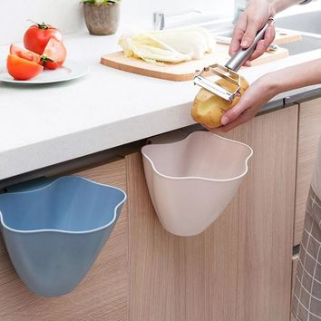 Kitchen Trash Bin Sundries Storage Box Closet Door Hanging Trash Can Office Garbage Organizer