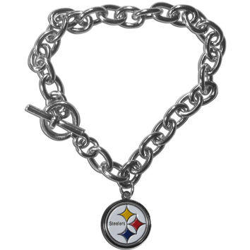 Pittsburgh Steelers Charm Chain Bracelet FCBR160