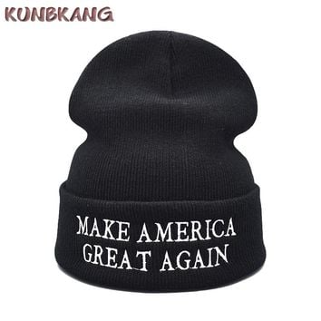 Make America Great Again Winter Beanies Knitted Hat Letters Donald Trump Cap GOP Republican Beanie Warm Trump President USA Hat