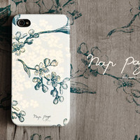 Apple iphone case for iphone iphone 4 iphone 4s iphone 3Gs : Blue floral design