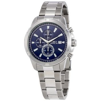 Invicta Specialty Chronograph Blue Dial Mens Watch 19221