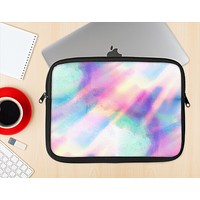 The Tie Dyed Bright Texture Ink-Fuzed NeoPrene MacBook Laptop Sleeve