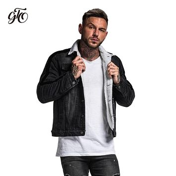 Gingtto Denim Jacket Men Winter Fleece Warm Man Jacket Coat With Fur Male Black Biker Jeans Motorcycle Jeans Jackets Male ZM707