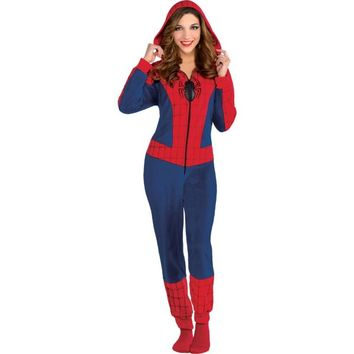 Adult Spidergirl One Piece Pajamas