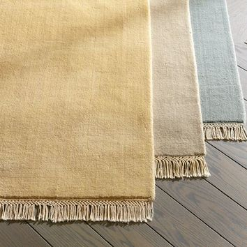 Fringed Hand-Loomed Rug Swatch