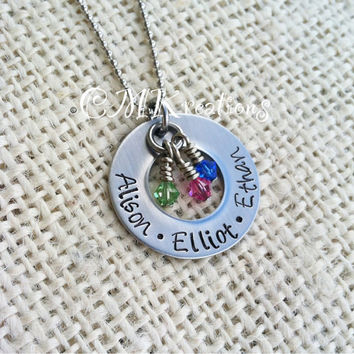 Mothers necklace Stainless steel custom name by CMKreations