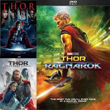 Thor 1-3  Movies all on DVD
