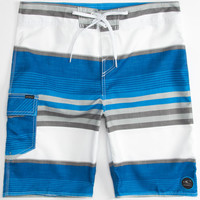 O'neill Santa Cruz Stripe Mens Boardshorts Blue  In Sizes