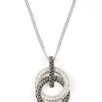 Judith Jack Sterling Silver and Crystal Interlock Pendant Necklace