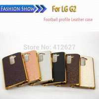Business Style Square Grid Chromed Edge Hard Case For LG Optimus G2 D802 D801 Case Plastic Mobile Phone Cover
