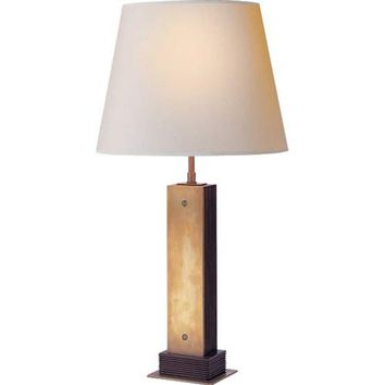 Visual Comfort and Company TOB3006HAB-NP Hand-Rubbed Antique Brass Porter Table Lamp