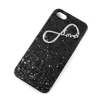 Infinity Love Glitter iPhone 5 Cover  | Claire's