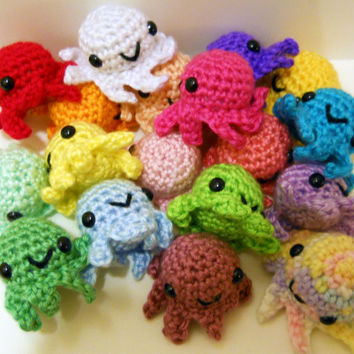 Choose Your Own Baby Octopus - ANY COLOR, Made to Order - Crocheted Plushie