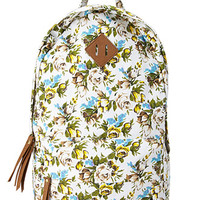 Fantasy Floral Canvas Backpack