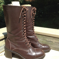 Gap Retro Victorian Boots Brown Leather
