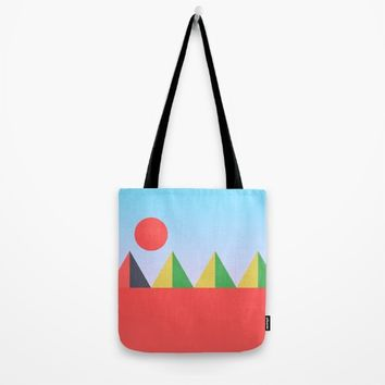 Pyramids in the Sun Tote Bag by Trevor May