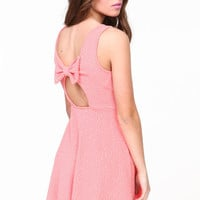 BOWTIE KNIT SKATER DRESS