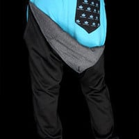 Black and Teal Signature Streetwear Sweatpants at Threader® Streetwear, Hip Hop Clothing, and Urban Clothing