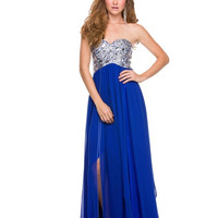 PRIMA Glitz GZ1507 Mirror Beaded Evening Gown Prom Dress