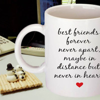 Best Friends Coffee Mug, Friends Forever, Coffee Mug, Funny Coffee Mug, Gift for Him, Gift for Her, Coffee Lover Gift, Unique Birthday Gift