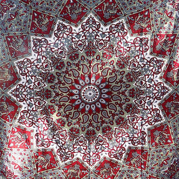twin psychedelic star mandala tapestry wall hanging hippie bohemian boho bedding throw bedspread ethnic home decor art